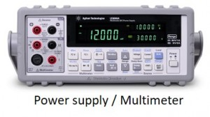 Power supply & Multimeter